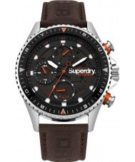 Superdry SYG220BR Mens Steel Officer Watch