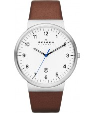 Skagen SKW6082 Mens Klassik Brown Leather Strap Watch