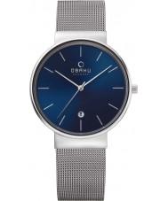 Obaku V153GDCLMC Mens Silver Steel Mesh Bracelet Watch