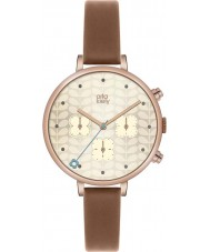 Orla Kiely OK2040 Ladies Ivy Chronograph Tan Leather Strap Watch