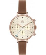 Orla Kiely OK2040 Ladies Ivy Chronograph Tan Leather Strap Watch