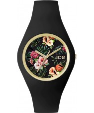 Ice-Watch 001438 Ice-Flower Exclusive Black Silicone Strap Watch
