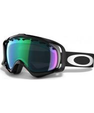 Oakley OO7005-02 Crowbar Jet Black - Prizm Jade Iridium Ski Goggles