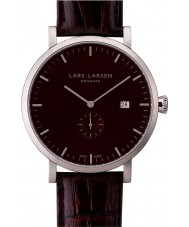 Lars Larsen 131SBBL Mens Sebastian Brown Leather Strap Watch