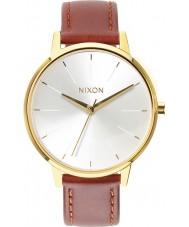 Nixon A108-1425 Ladies Kensington Leather Gold Saddle Watch