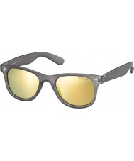 Polaroid PLD6009-SM UJB LM Grey Transparent Polarized Sunglasses