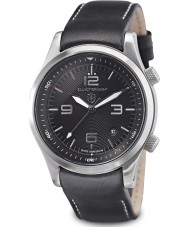 Elliot Brown 202-015-L02 Mens Canford Black Leather Clipper Edition Watch