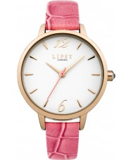Lipsy LP434 Ladies Coral PU Strap Watch