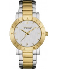 Caravelle New York 45L151 Ladies Boyfriend Two Tone Steel Bracelet Watch