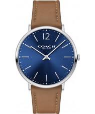 Coach 14602110 Mens Ultra Slim Camel Soft Port Leather Strap Watch