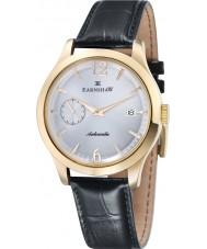 Thomas Earnshaw ES-8034-03 Mens Blake Black Croco Leather Strap Watch