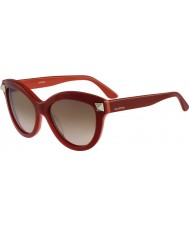 Valentino Ladies V695S English Red Sunglasses