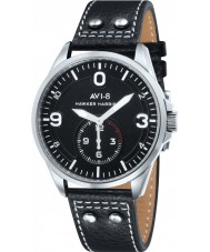 AVI-8 AV-4002-01 Mens Hawker Harrier II Black Leather Strap Watch