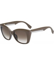 Chriselli Fendi 2Jours FF 0019-S 6QX DB Mud Brown Sunglasses