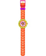 Flik Flak FCSP030 Girls Chewy Orange Silicone Strap Watch