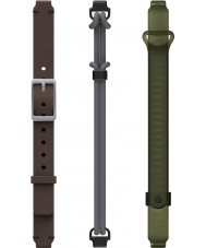 Misfit MIS9005 Ray Dark Brown Black and Green Spare Straps