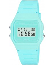Casio F-91WC-2AEF Mens Retro Collection Pastel Blue Chronograph Watch