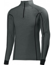 Helly Hansen Mens Warm Freeze Grey Half Zip Baselayer