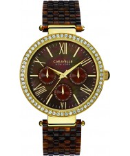 Caravelle New York 44N102 Ladies Glitz Tortoise Plastic Strap Watch