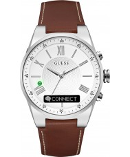 Guess Connect C0002MB1 Brown Leather Strap Smart Watch