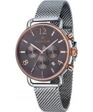Thomas Earnshaw ES-8001-33 Mens Investigator Silver Mesh Chronograph Watch