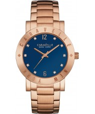 Caravelle New York 44L202 Ladies Boyfriend Rose Gold Steel Bracelet Watch