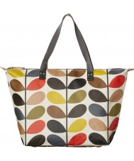Orla Kiely 0ETCCMS131 Ladies Classic Multi Stem Zip Shopper Bag