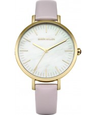 Karen Millen KM126VG Ladies Pastel Purple Leather Strap Watch