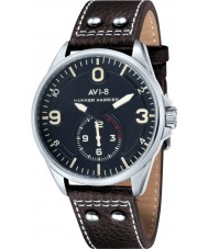 AVI-8 AV-4002-02 Mens Hawker Harrier II Brown Leather Strap Watch