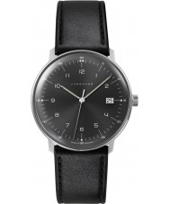 Junghans 041-4462-00 Max Bill Black Leather Strap Watch