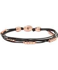 Fossil JA6260791 Ladies Fashion Black Leather Multi Strand Wrist Wrap