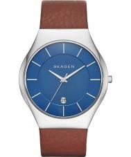 Skagen SKW6160 Mens Grenen Light Brown Leather Strap Watch