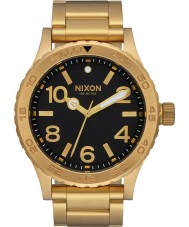 Nixon A916-510 Mens 46 Gold Plated Bracelet Watch