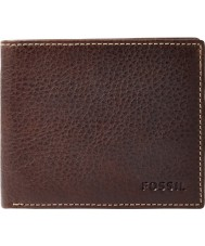 Fossil ML3567200 Mens Lincoln Brown Leather Bifold Wallet