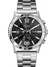 Caravelle New York 43A115 Mens Logan Silver Chronograph Watch