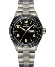 Dogfight DF0066 Mens Wingman Black IP Steel Bracelet Watch