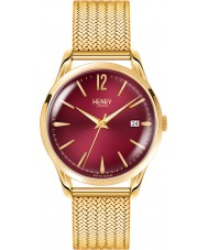 Henry London HL39-M-0062 Ladies Holborn Burgundy Hamilton Gold Watch