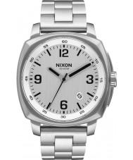 Nixon A1072-130 Mens Charger Silver Steel Bracelet Watch