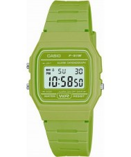 Casio F-91WC-3AEF Mens Retro Collection Green Chronograph Watch