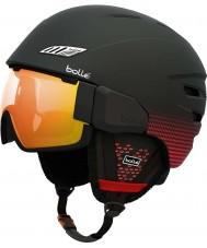 Bolle 30753 Osmoz Soft Black and Red Ski Helmet - 54-58cm