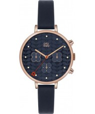 Orla Kiely OK2042 Ladies Ivy Chronograph Navy Leather Strap Watch