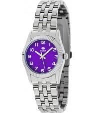 Marea 21161-6 Ladies Fashion Silver Steel Bracelet Watch