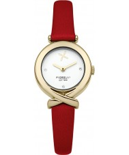 Fiorelli FO009RG Ladies Red Leather Strap Watch
