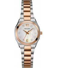 Bulova 98S143 Ladies Diamond Gallery Two Tone Steel Bracelet Watch