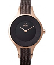 Obaku V165LXVNMN Ladies Brown Steel Mesh Bracelet Watch