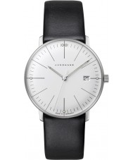 Junghans 047-4251-00 Ladies Max Bill Black Leather Strap Watch