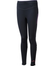 Ronhill RH-001901R292-16 Ladies Vizion Black Fluo Pink Stretch Tights - Size UK 16 (XL)