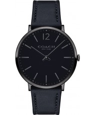 Coach 14602112 Mens Ultra Slim Black Soft Leather Strap Watch