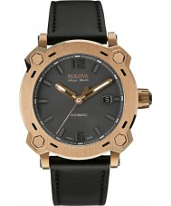 Bulova Accu Swiss 64B129 Mens Percheron Black Leather Strap Watch