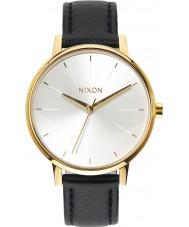 Nixon A108-1964 Ladies Kensington Leather Gold White Black Watch